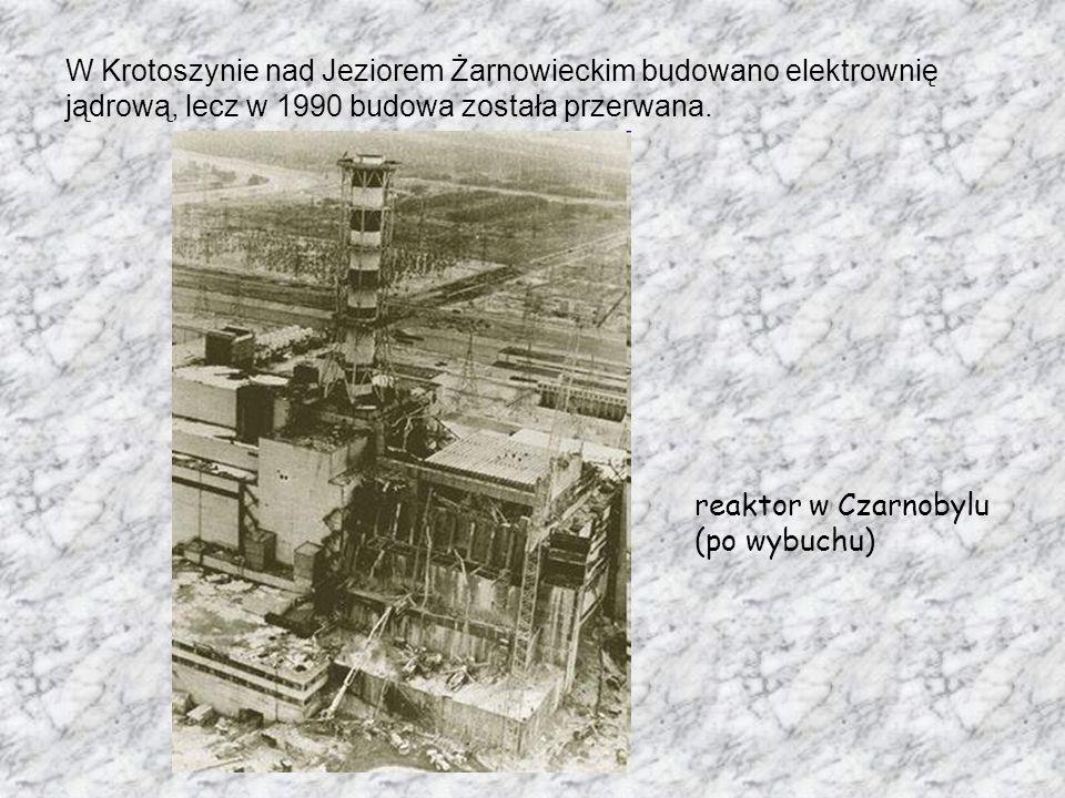 W Krotoszynie nad Jeziorem Żarnowieckim budowano elektrownię jądrową, lecz w 1990 budowa została przerwana.