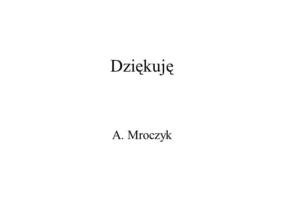 Dziękuję A. Mroczyk