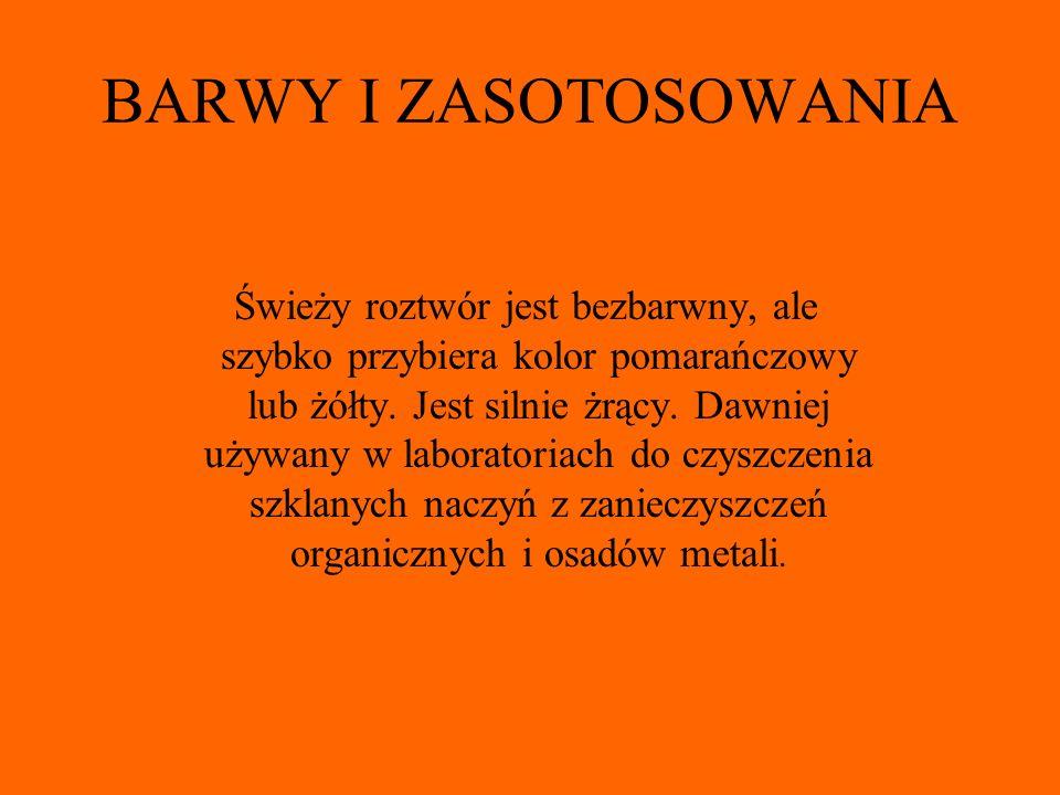 BARWY I ZASOTOSOWANIA