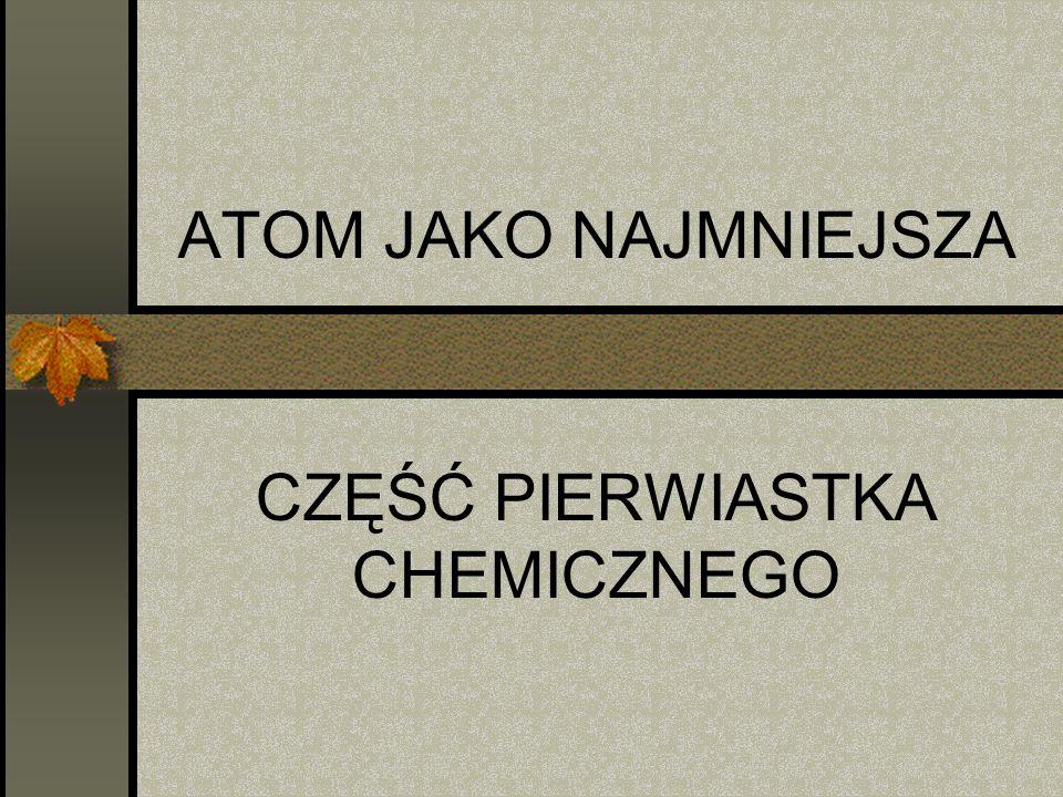 CZĘŚĆ PIERWIASTKA CHEMICZNEGO