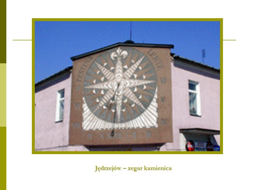 Jędrzejów – zegar kamienica