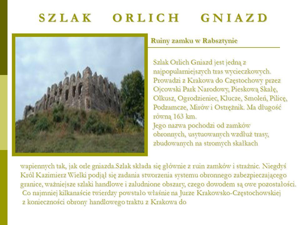 S Z L A K O R L I C H G N I A Z D Ruiny zamku w Rabsztynie