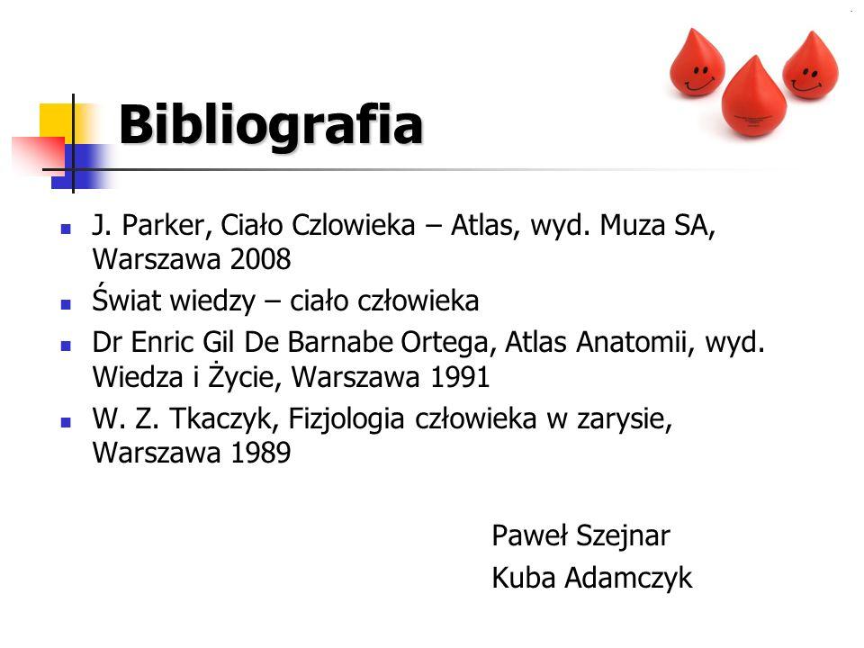 Bibliografia J. Parker, Ciało Czlowieka – Atlas, wyd. Muza SA, Warszawa 2008. Świat wiedzy – ciało człowieka.
