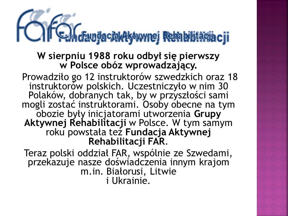W sierpniu 1988 roku odbył się pierwszy w Polsce obóz wprowadzający.