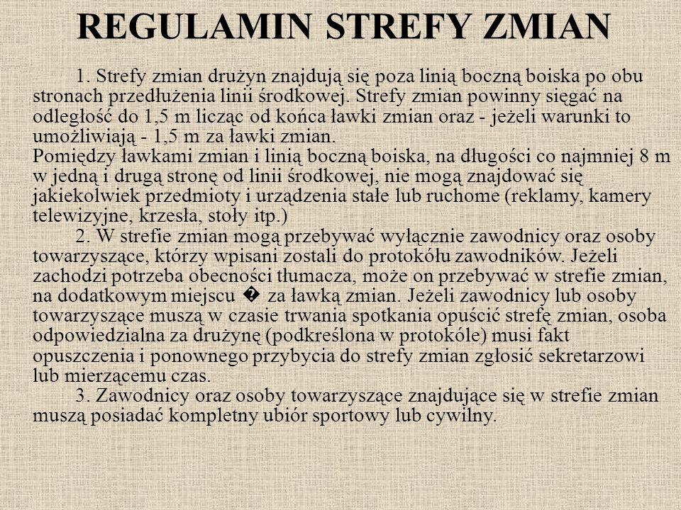 REGULAMIN STREFY ZMIAN