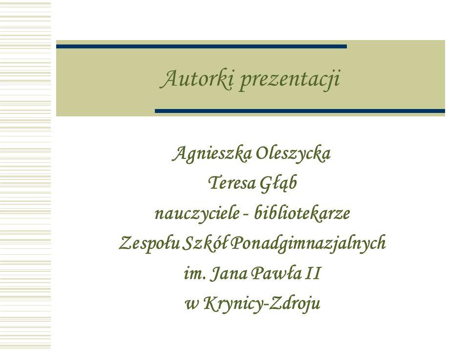 nauczyciele - bibliotekarze Zespołu Szkół Ponadgimnazjalnych