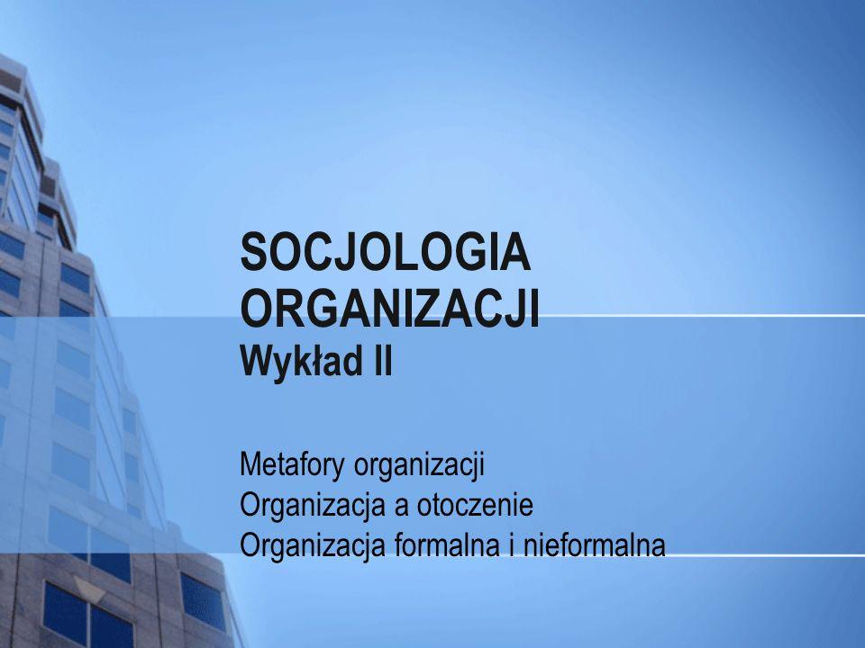 SOCJOLOGIA ORGANIZACJI Wykład II