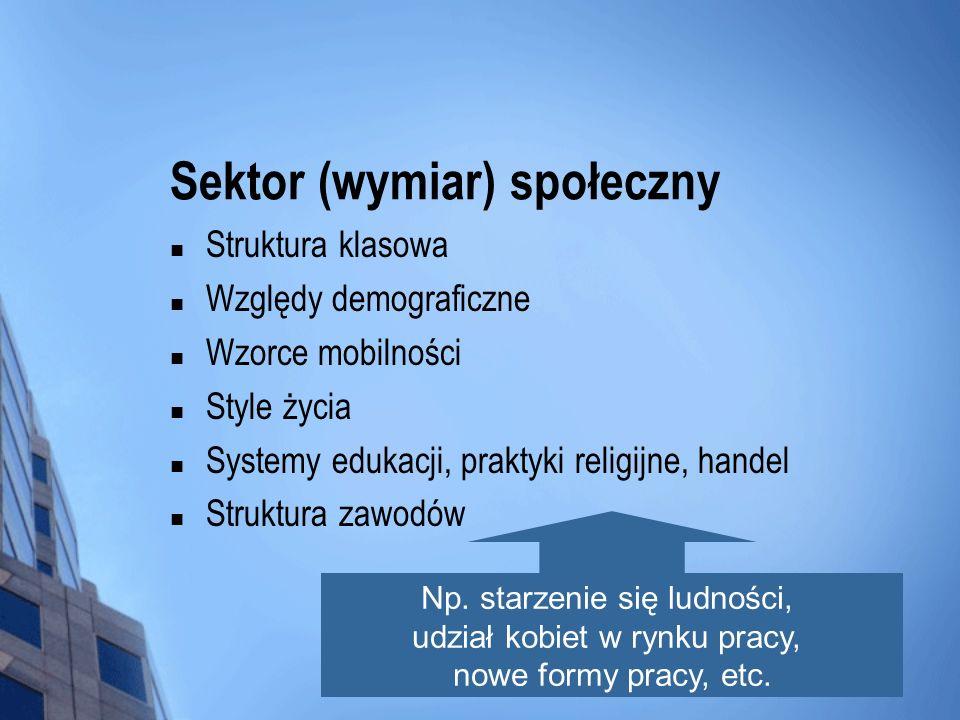 Sektor (wymiar) społeczny