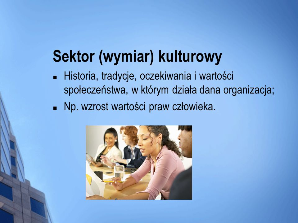 Sektor (wymiar) kulturowy