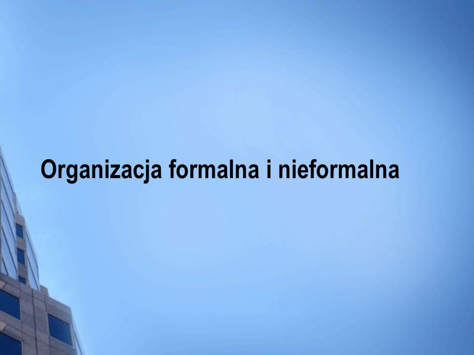 Organizacja formalna i nieformalna