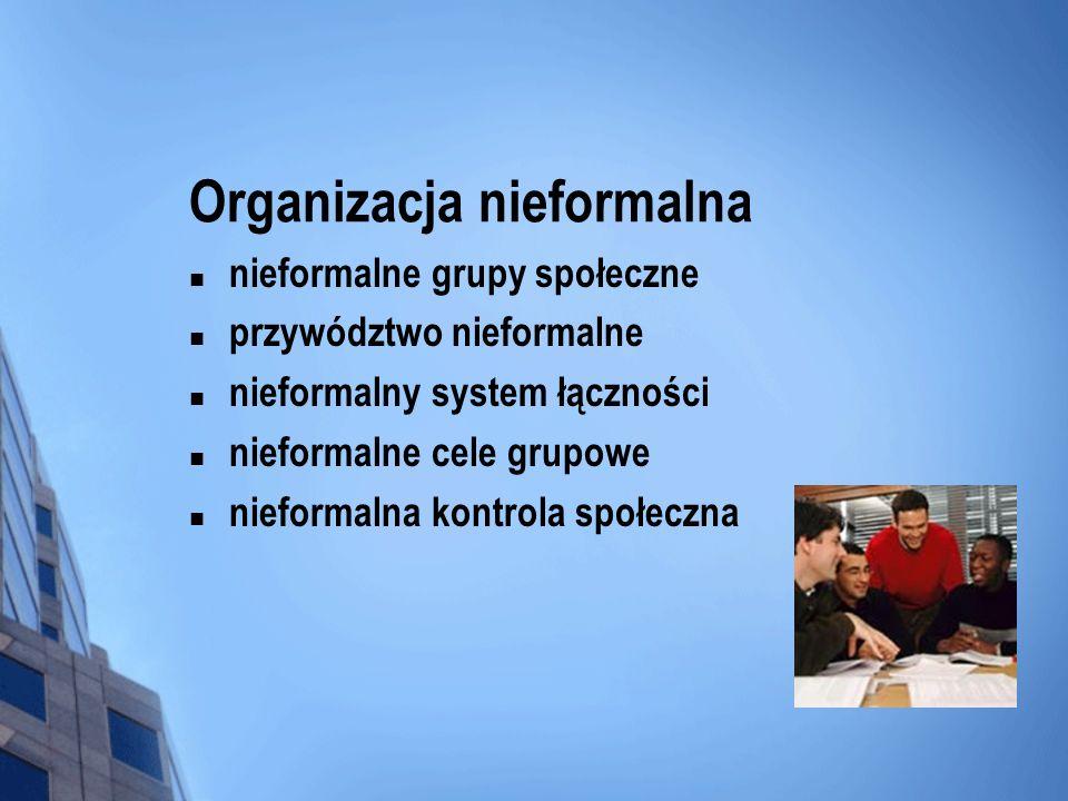 Organizacja nieformalna