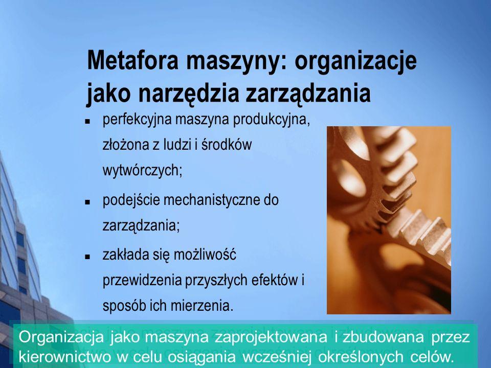 Metafora maszyny: organizacje jako narzędzia zarządzania