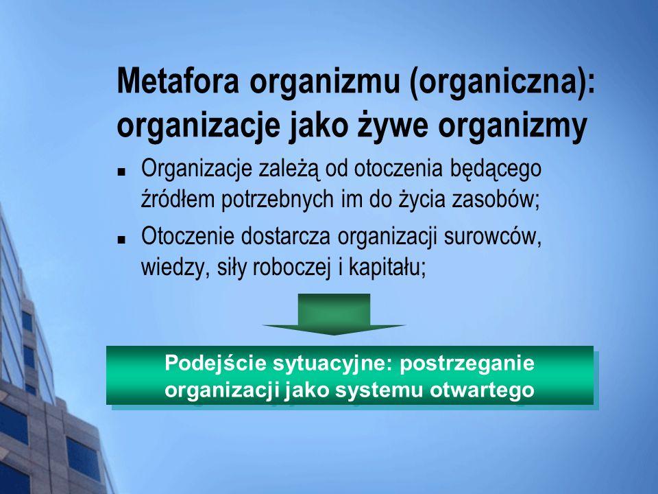 Metafora organizmu (organiczna): organizacje jako żywe organizmy
