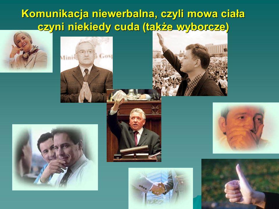 Komunikacja niewerbalna, czyli mowa ciała czyni niekiedy cuda (także wyborcze)