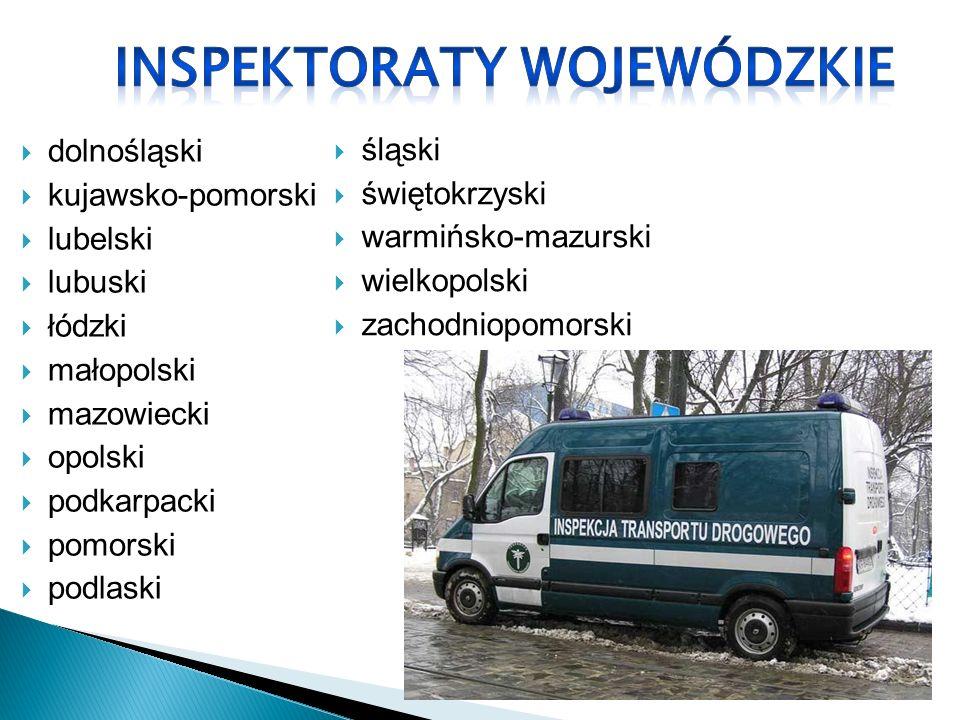 INSPEKTORATY WOJEWÓDZKIE