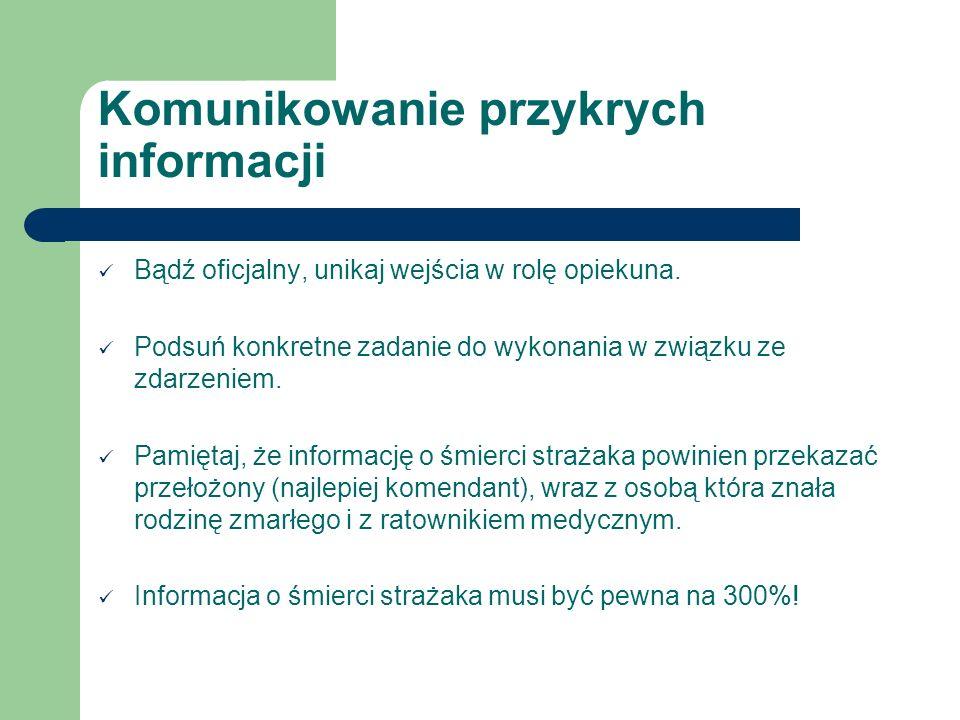 Komunikowanie przykrych informacji
