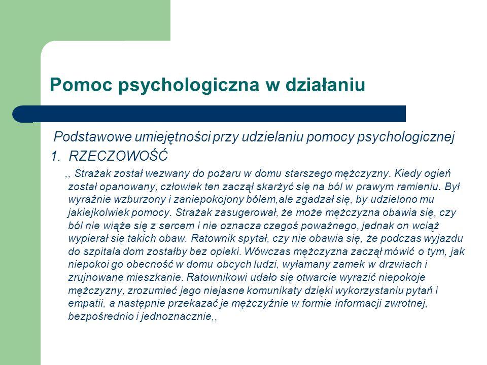 Pomoc psychologiczna w działaniu
