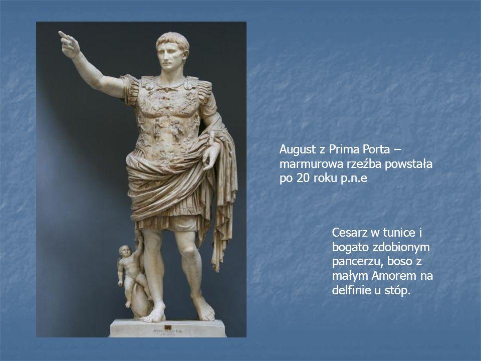 August z Prima Porta – marmurowa rzeźba powstała po 20 roku p.n.e
