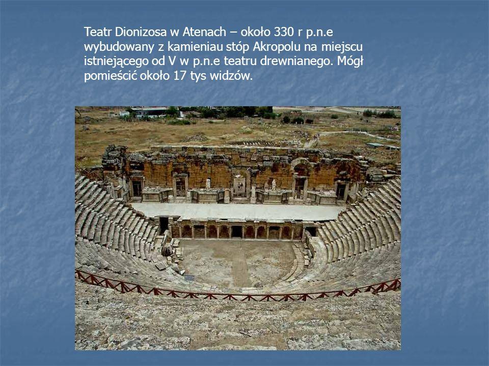 Teatr Dionizosa w Atenach – około 330 r p. n