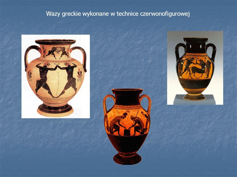 Wazy greckie wykonane w technice czerwonofigurowej