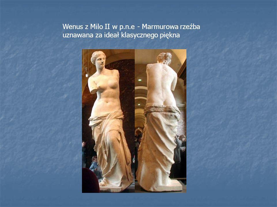 Wenus z Milo II w p.n.e - Marmurowa rzeźba uznawana za ideał klasycznego piękna