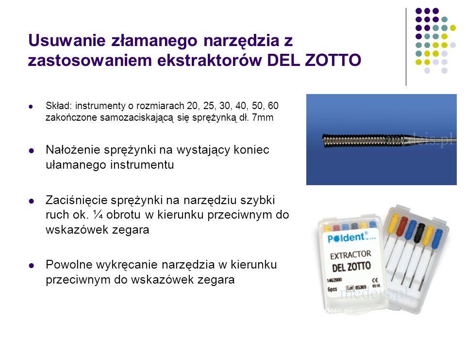 Usuwanie złamanego narzędzia z zastosowaniem ekstraktorów DEL ZOTTO