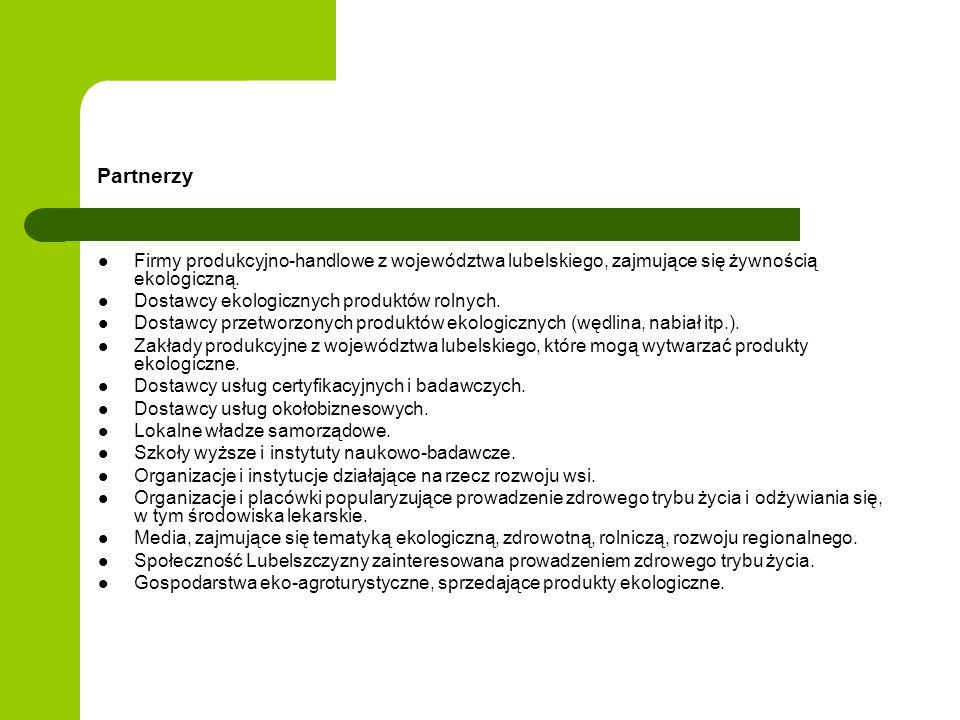 Partnerzy Firmy produkcyjno-handlowe z województwa lubelskiego, zajmujące się żywnością ekologiczną.
