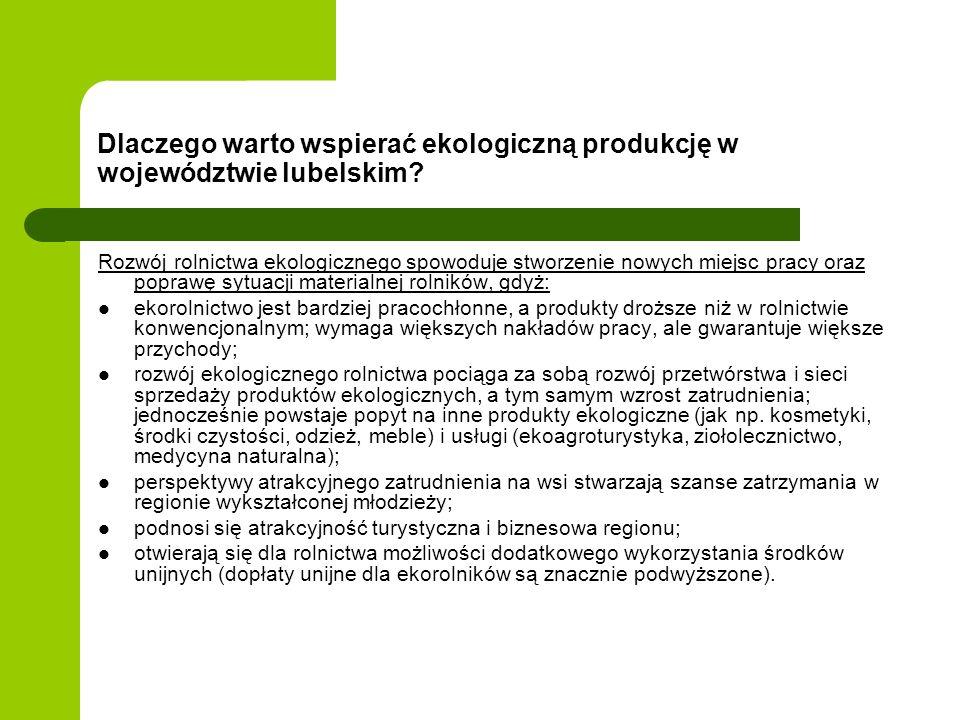 Dlaczego warto wspierać ekologiczną produkcję w województwie lubelskim
