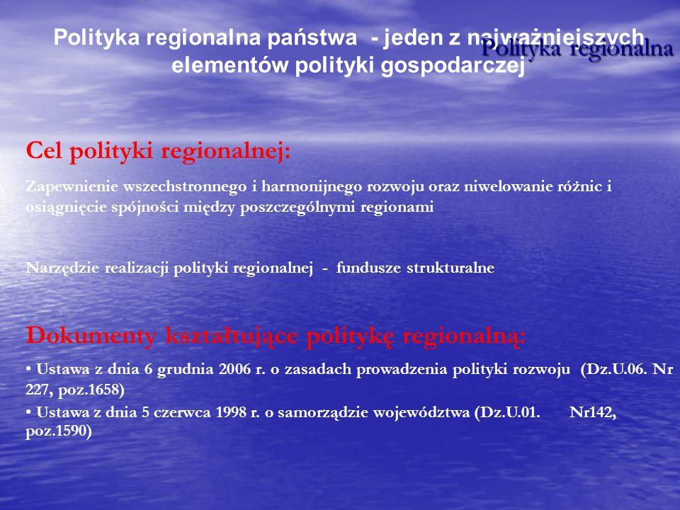 Cel polityki regionalnej: