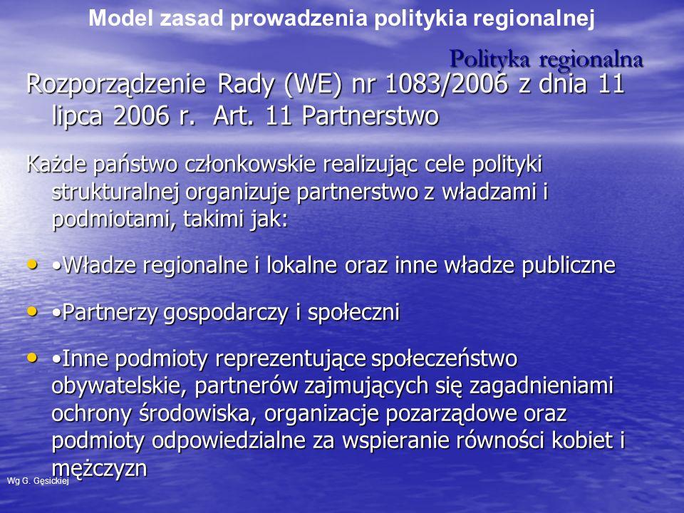 Model zasad prowadzenia politykia regionalnej