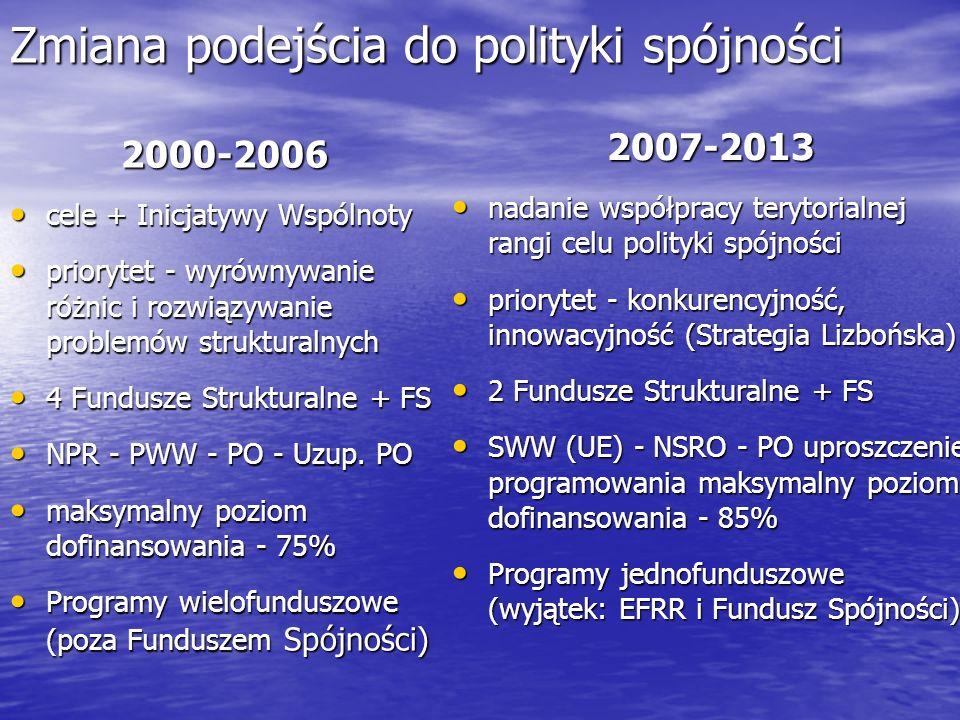 Zmiana podejścia do polityki spójności