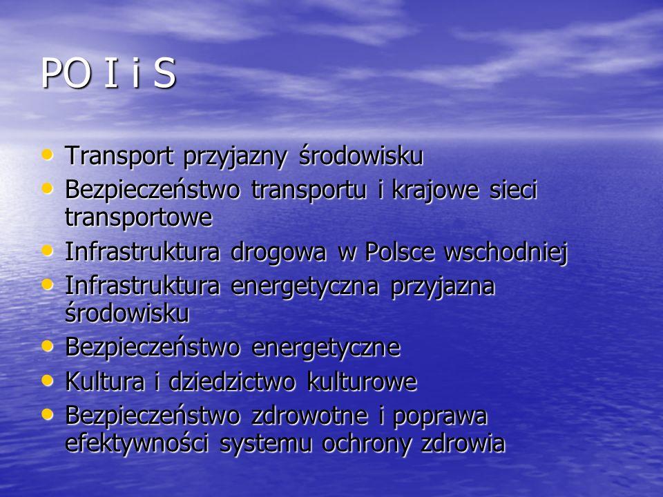 PO I i S Transport przyjazny środowisku
