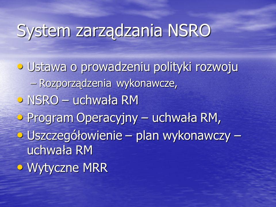 System zarządzania NSRO