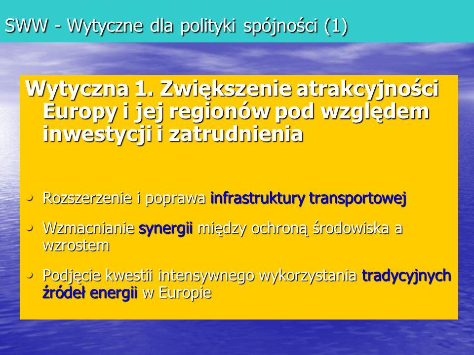 SWW - Wytyczne dla polityki spójności (1)