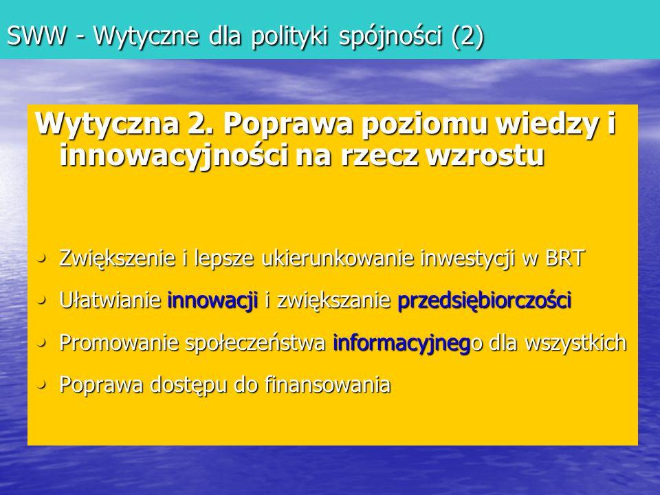 SWW - Wytyczne dla polityki spójności (2)