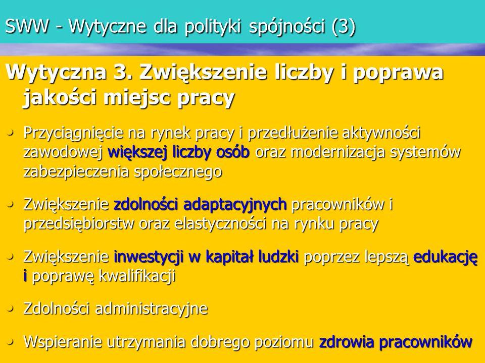 SWW - Wytyczne dla polityki spójności (3)