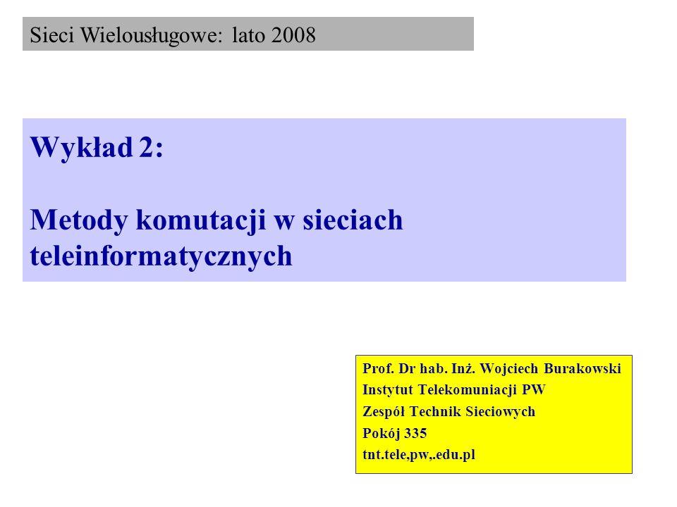 Wykład 2: Metody komutacji w sieciach teleinformatycznych