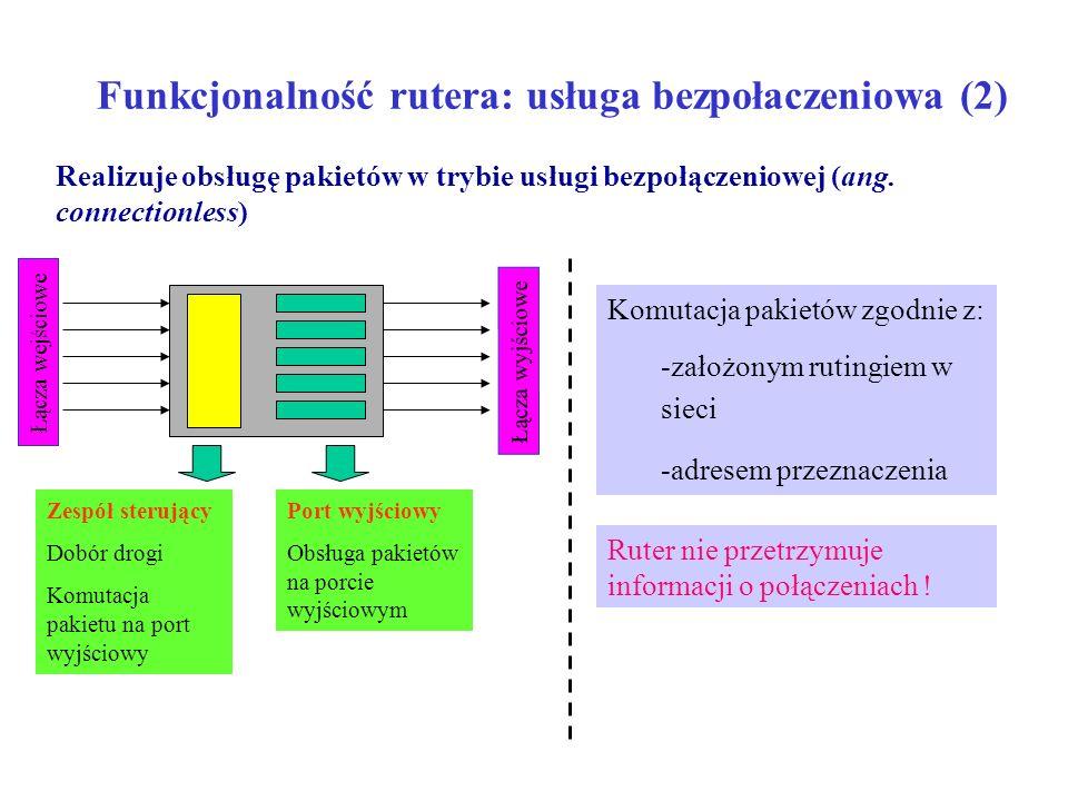 Funkcjonalność rutera: usługa bezpołaczeniowa (2)