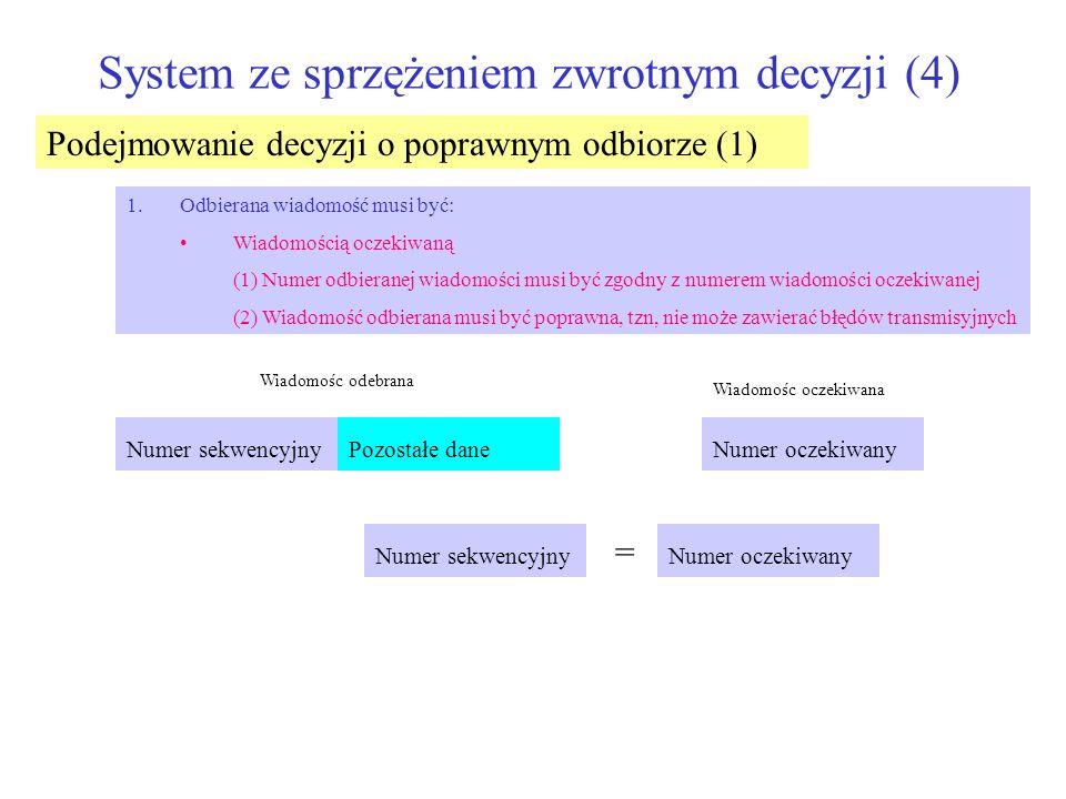 System ze sprzężeniem zwrotnym decyzji (4)