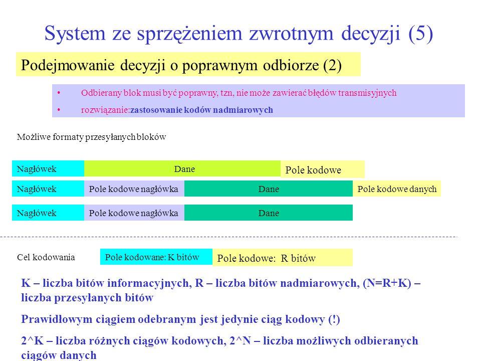 System ze sprzężeniem zwrotnym decyzji (5)