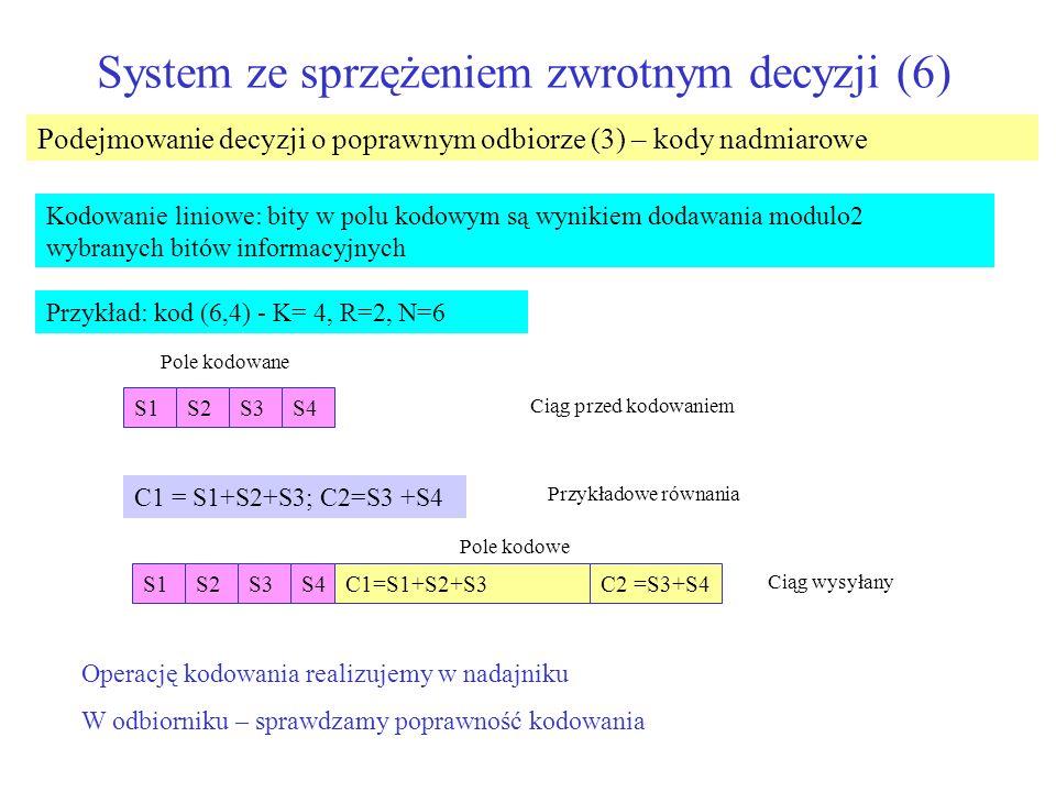 System ze sprzężeniem zwrotnym decyzji (6)