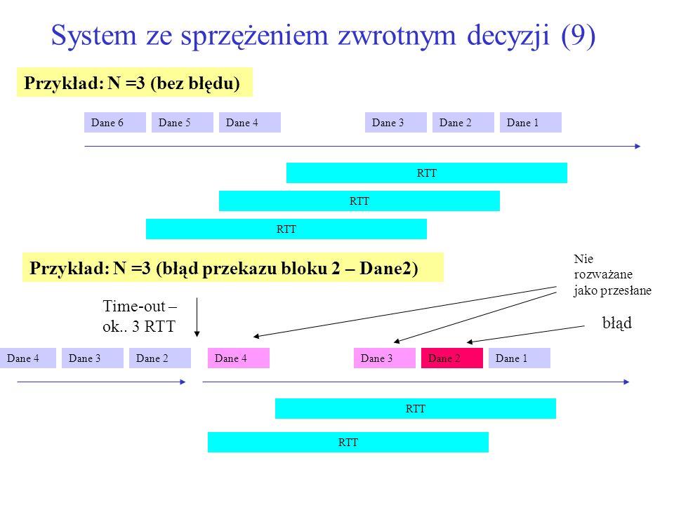 System ze sprzężeniem zwrotnym decyzji (9)