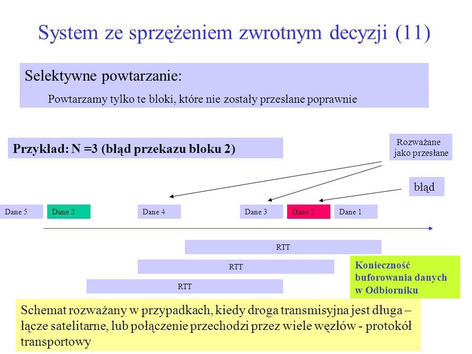 System ze sprzężeniem zwrotnym decyzji (11)