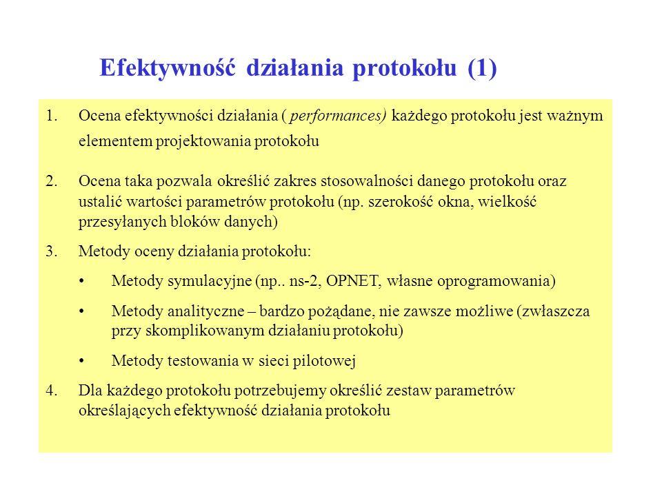 Efektywność działania protokołu (1)