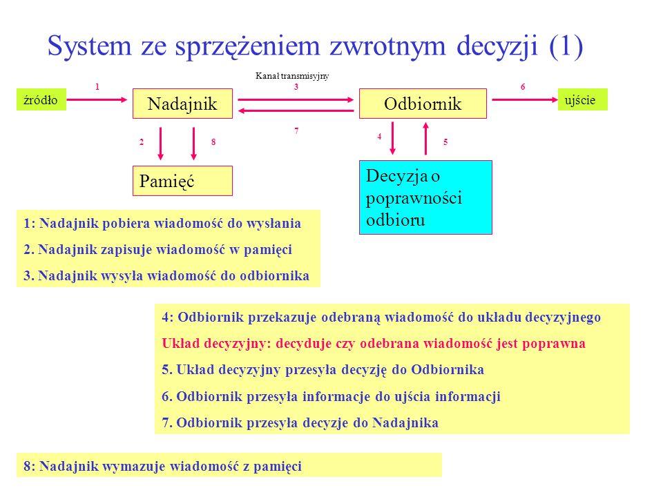 System ze sprzężeniem zwrotnym decyzji (1)