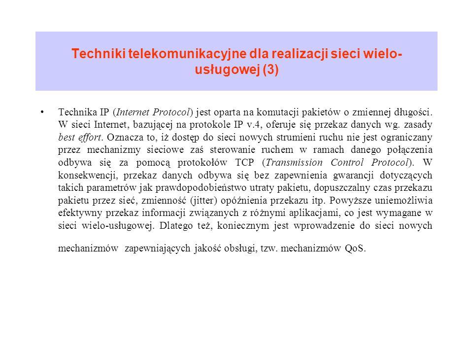 Techniki telekomunikacyjne dla realizacji sieci wielo-usługowej (3)