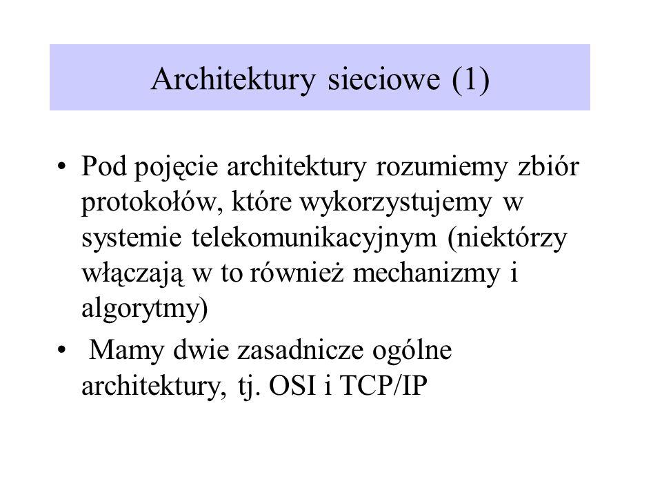 Architektury sieciowe (1)
