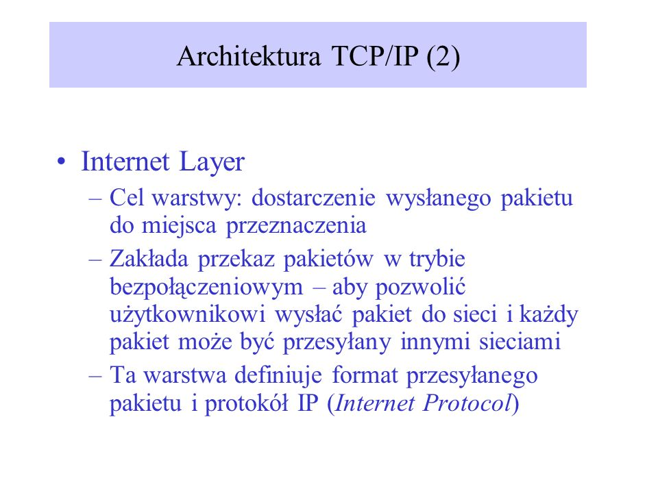 Architektura TCP/IP (2)