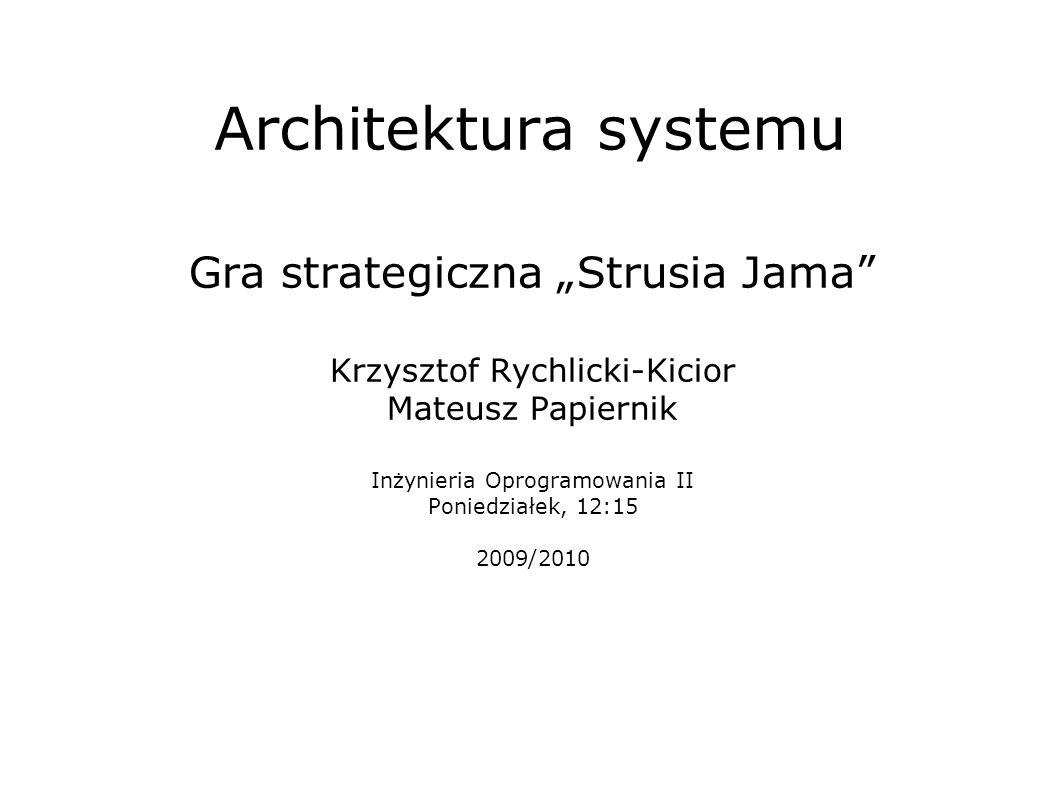 "Architektura systemu Gra strategiczna ""Strusia Jama"