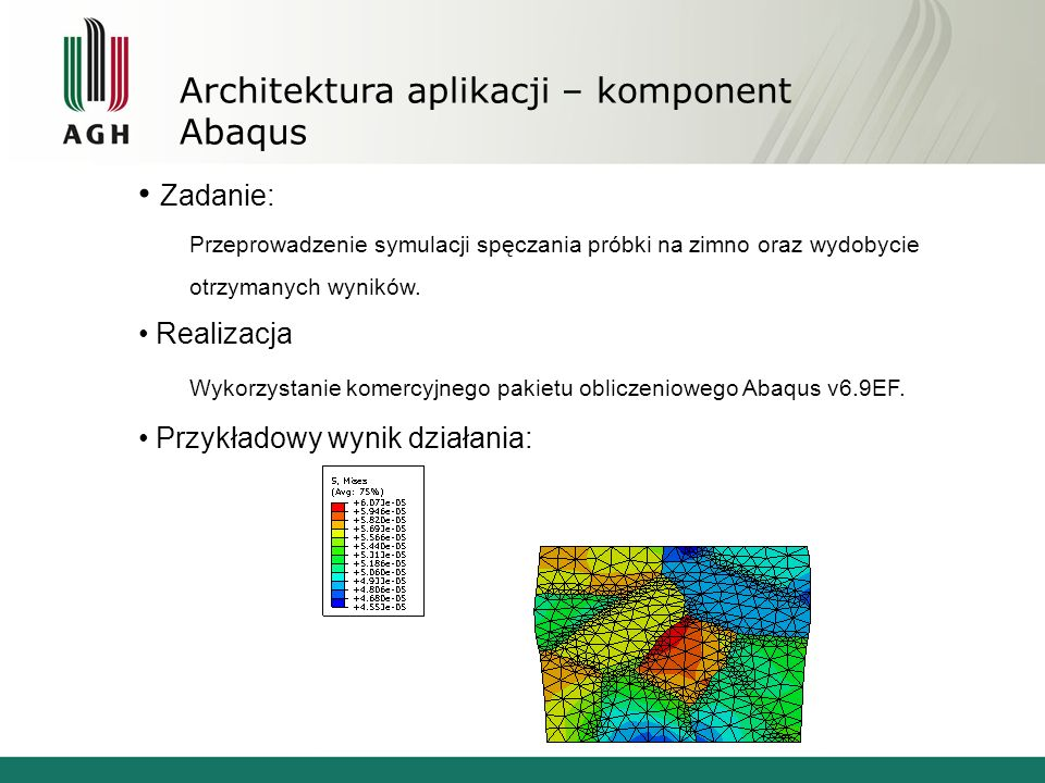 Architektura aplikacji – komponent Abaqus